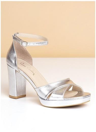Pierre Cardin Pierre Cardin Gümüş Topuklu Ayakkabı Gümüş